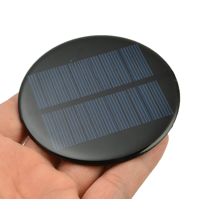 6V 2W 0.35A Solar Power 80MM DIY Mini Polycrystalline Silicon Solar Cell Module Circle Round Solar Panel Epoxy Board 2