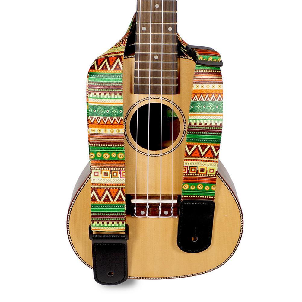 Adjustable Hawaii Guitar Strap National Style Printing Thicken Ukulele Belt Guitarra Straps For Ukulele Guitar Part Accessories