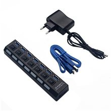 USB3.0 хаб 7 портов USB v3.0+ 5 В/2A Мощность