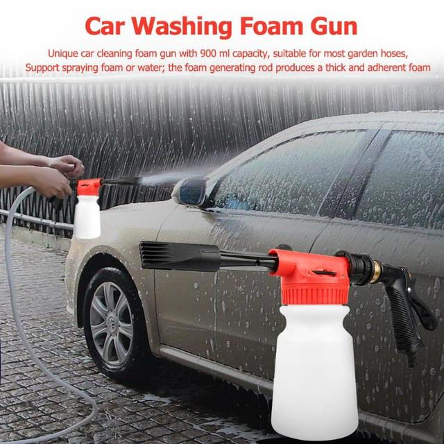 Foam Spray Car Wash >> 900ml Car Washing Foam Gun Auto Cleaning Snow Foam Lance Water Soap Shampoo Sprayer Car Window Washer Household Tool