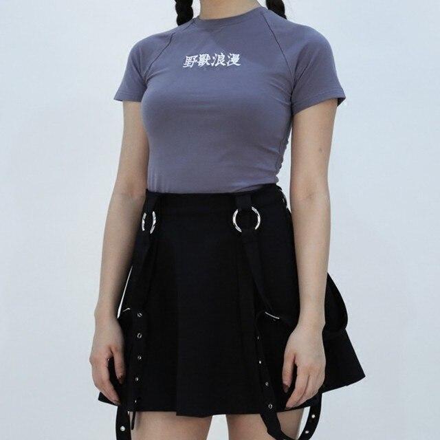 Harajuku Women T-shirt O Neck Letter Embroidery Fashion Short Sleeve Slim Cotton Female 2019 Summer Tees
