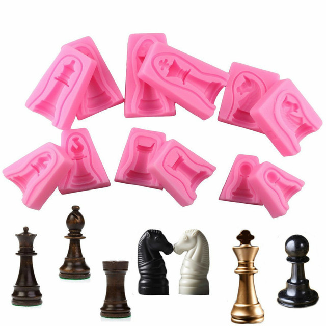 US $11 89 15% OFF|12Pcs International Chess Cake Silicone Mold Fondant Cake  Decorating Tools Chocolate Candy Molds Soap Resin Clay Moulds-in Clay