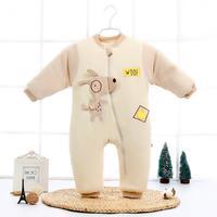 Autumn & Winter Newborn Infant Baby Clothes Fleece Cotton Jumpsuit Boys Romper Hooded Jumpsuit Warm Onesie Bebe Unisex Clothes