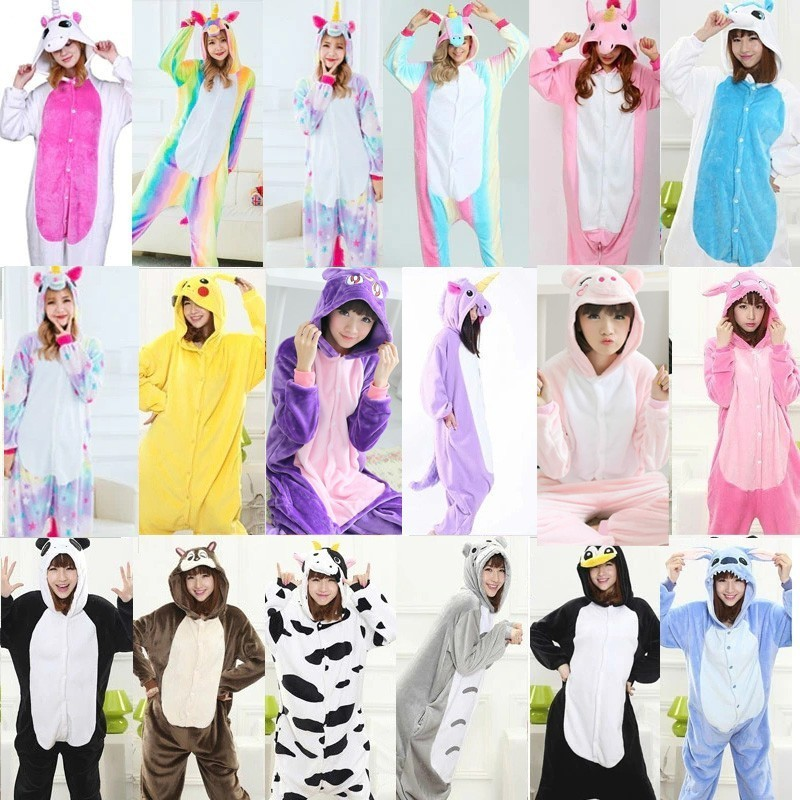 Totoro Kigurumi Adult Women Pajamas Suit Flannel Warm Onesies For Adults Sleepwear Winter Pijama Cosplay Onepiece