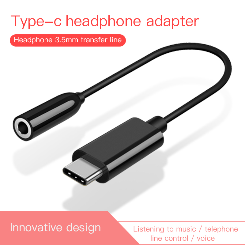 For Xiaomi Huawei AUX Audio Cable Type C To 3.5 Headphone Adapter USB Type-C To 3.5mm Jack Earphone Converter For Mi 6 Letv