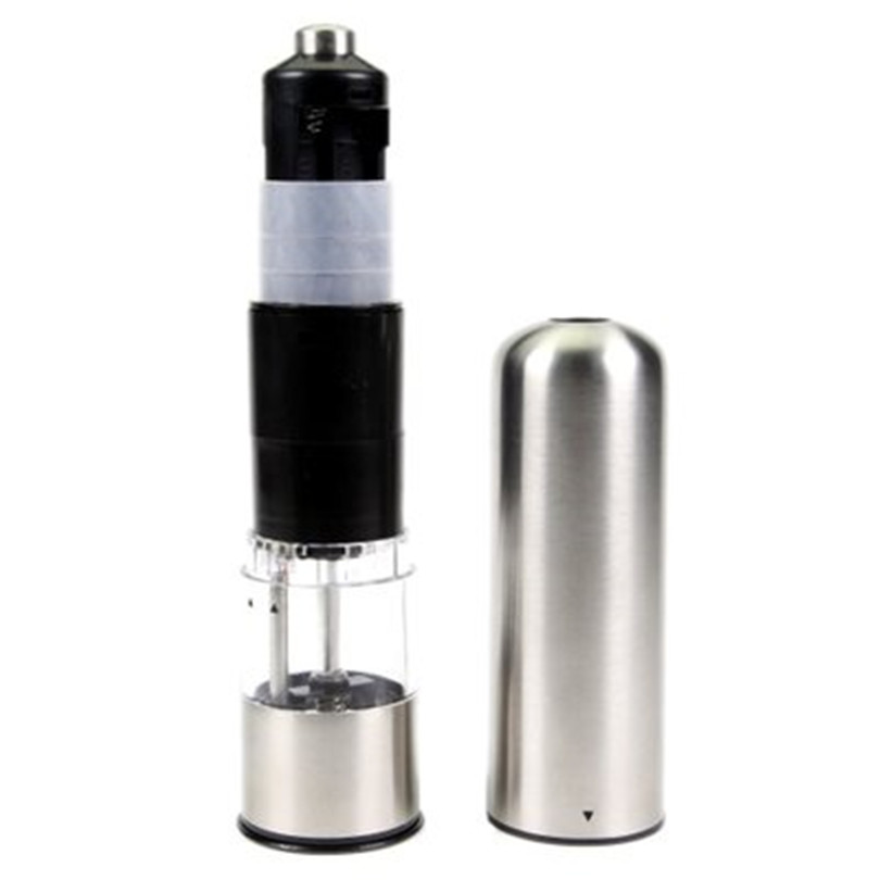 Image 5 - Electric pepper mill salt and pepper grinding Adjustable Coarseness Spice Grinder Muller Kitchen Tool Battery not included-in Mills from Home & Garden