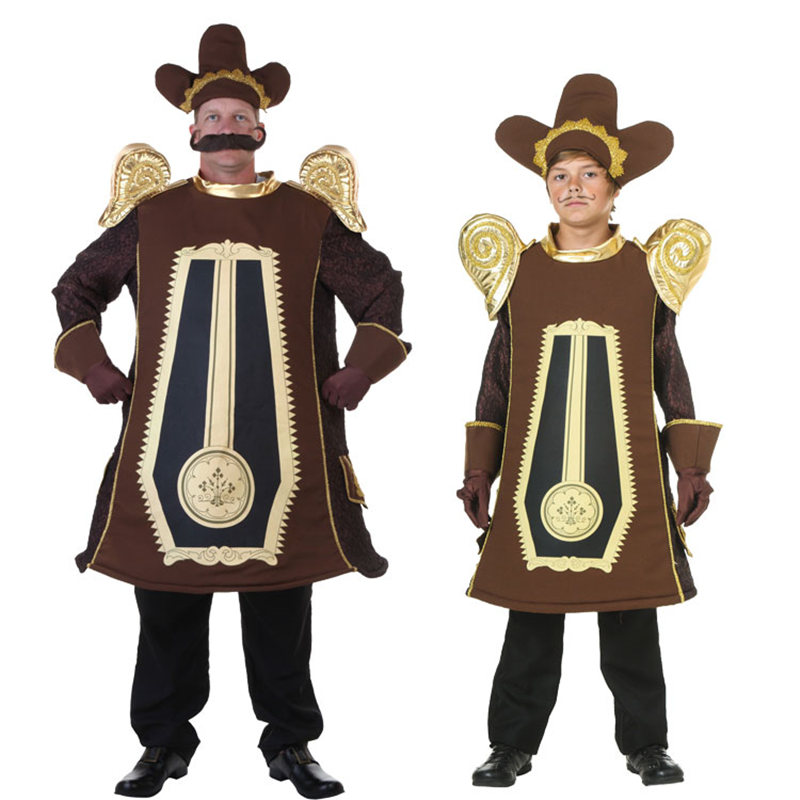 Beauty And The Beast Cosplay Costume Adult Kids Halloween School Stage Fancy Dresses Movie Cogsworth Lumiere