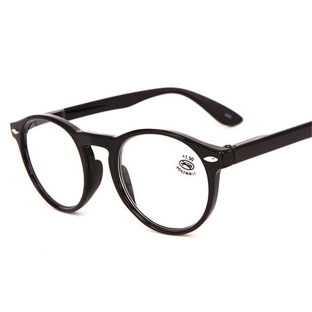 a47a1a79ec6 Fashion Round Glasses Frame Women Retro Red Blue Black Reading Glasses Men  Vintage Ultralight Hyperopia Eyeglasses with Diopter