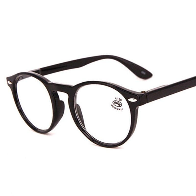 acacf70acf Montura de gafas redondas de moda para mujer Retro rojo azul negro gafas de  lectura para hombre Vintage ultraligero hiperopía gafas con dióptero