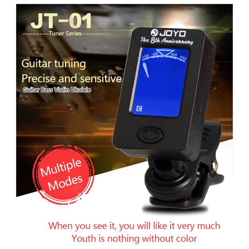 For JOYO Acoustic Guitar Tuner Ukulele Violin Bass Tuner Universal Register Two Rotation Modes To Read Luxury All-round Display