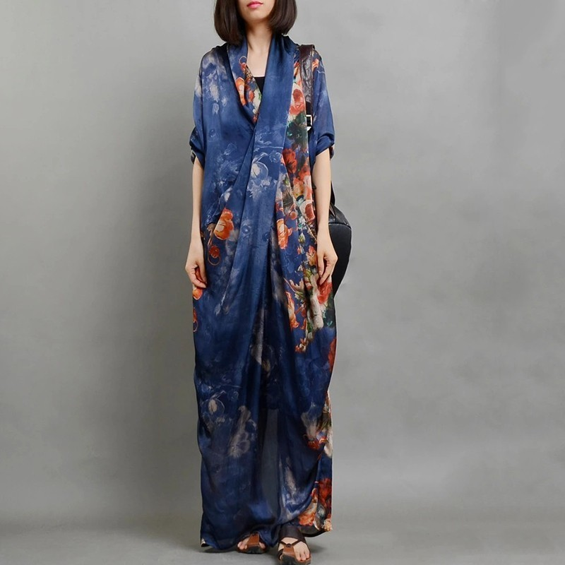 YaLee New Fashion 2019 Spring Summer Two Pieces Inner Sling Printed Thin Irregular Personality Long