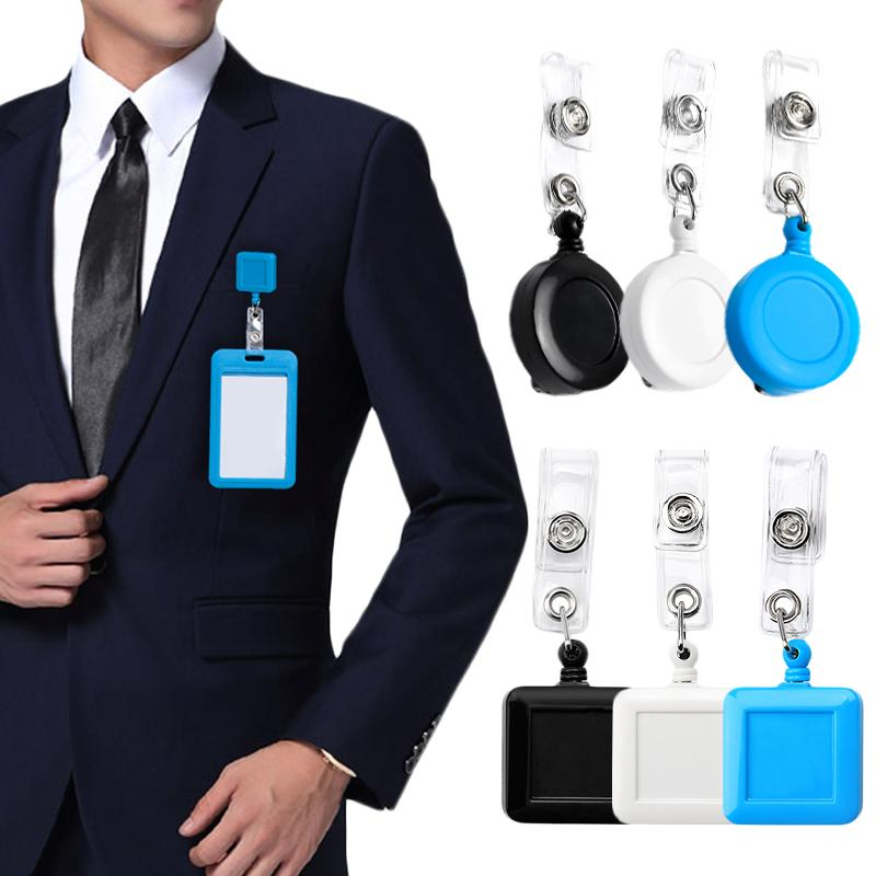 Retractable Badge Holder Reels ID Holder with Clip for ID Key Name Card Work Bad