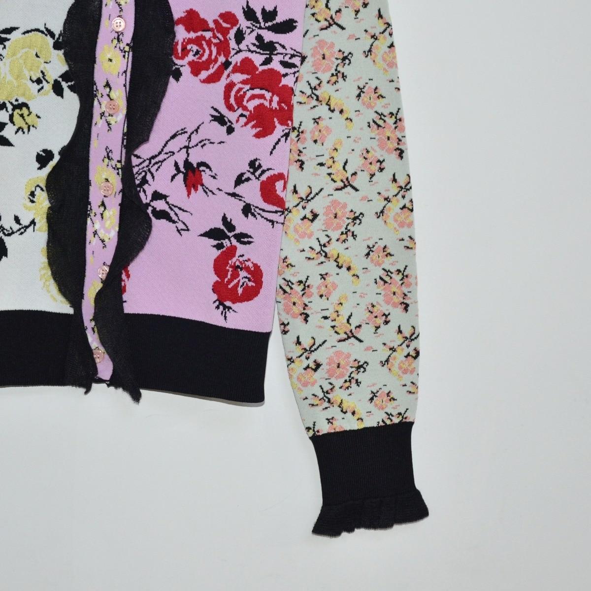 Couleur Brocade Date Col Fleurs Mode Court Jacquard Qualité Cardigan Haute Floraison 2018 Rond Manteau Petit Color Picture De Rose Hiver Aq8xxwv4gS