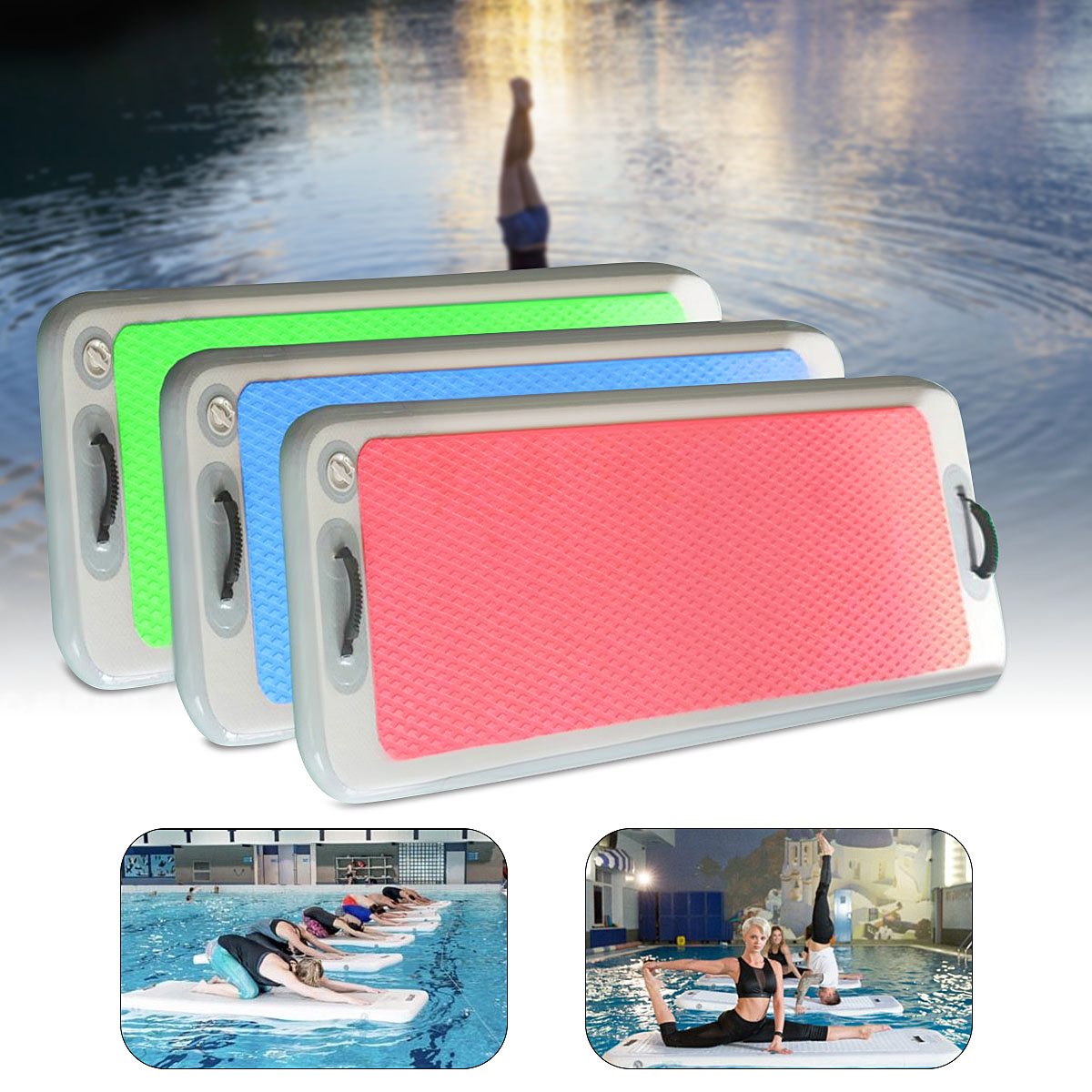 200x62x10cm Inflatable Floating Yoga Mat Air Tracks Tumbling For Gymnastics SUP Paddle Board200x62x10cm Inflatable Floating Yoga Mat Air Tracks Tumbling For Gymnastics SUP Paddle Board