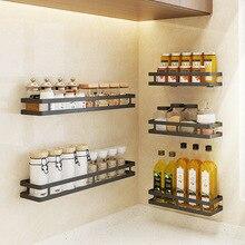 Настенный держатель для хранения из нержавеющей стали, кухонный стеллаж для приправ, полка для ванной комнаты, держатель для туалетных принадлежностей, домашняя организация