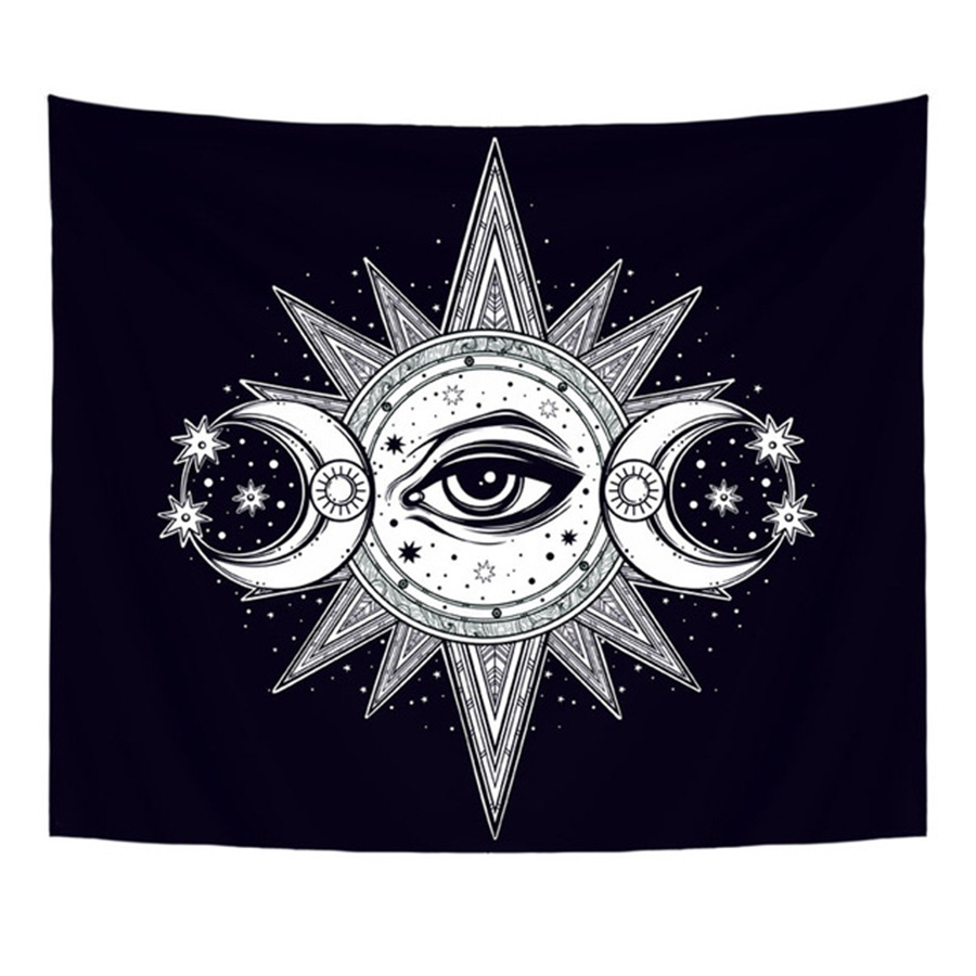 Loartee Psychedelic Astrology Abstract Tapestry Ouija House Fantasy Magic Witchcraft Celestial Body Home Wall Decoration