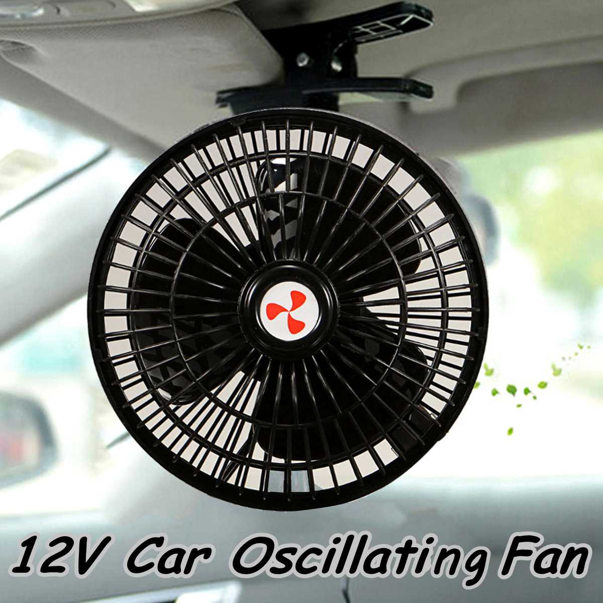 6 12v Portable Mini Electric Car Fan Noise Summer Cooling Air Conditioner Auto Vehicle