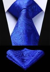 Вечерние свадебные классические модные платок галстук новый Пейсли голубой цвет мужской галстук шелка галстук платок комплект TF4015B58S