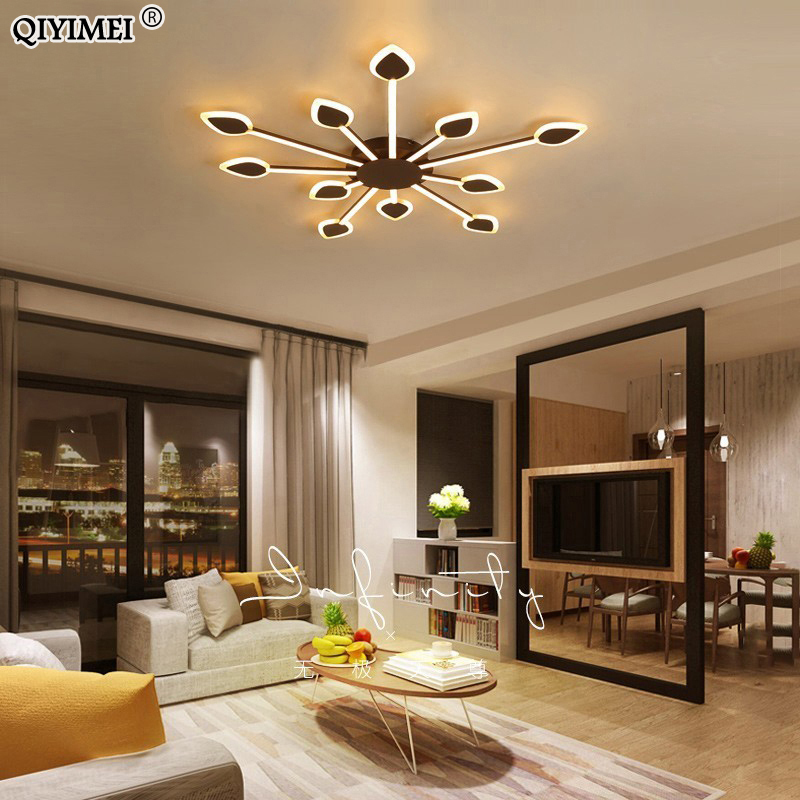 Coffee Finnished Modern Led Chandelier Lighting For Living Room Dining Kitchen Fixtures Lampara De Techo Acrylic Iron Lights Coffee Finnished Modern Led Chandelier Lighting For Living Room Dining Kitchen Fixtures Lampara De Techo Acrylic Iron Lights