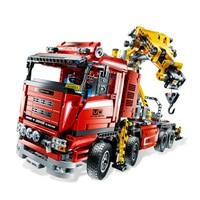 Technic Crane Truck Wrecker Power Functions Model Building Blocks Compatible Legoing 8258 20013 Bricks Educational Toys