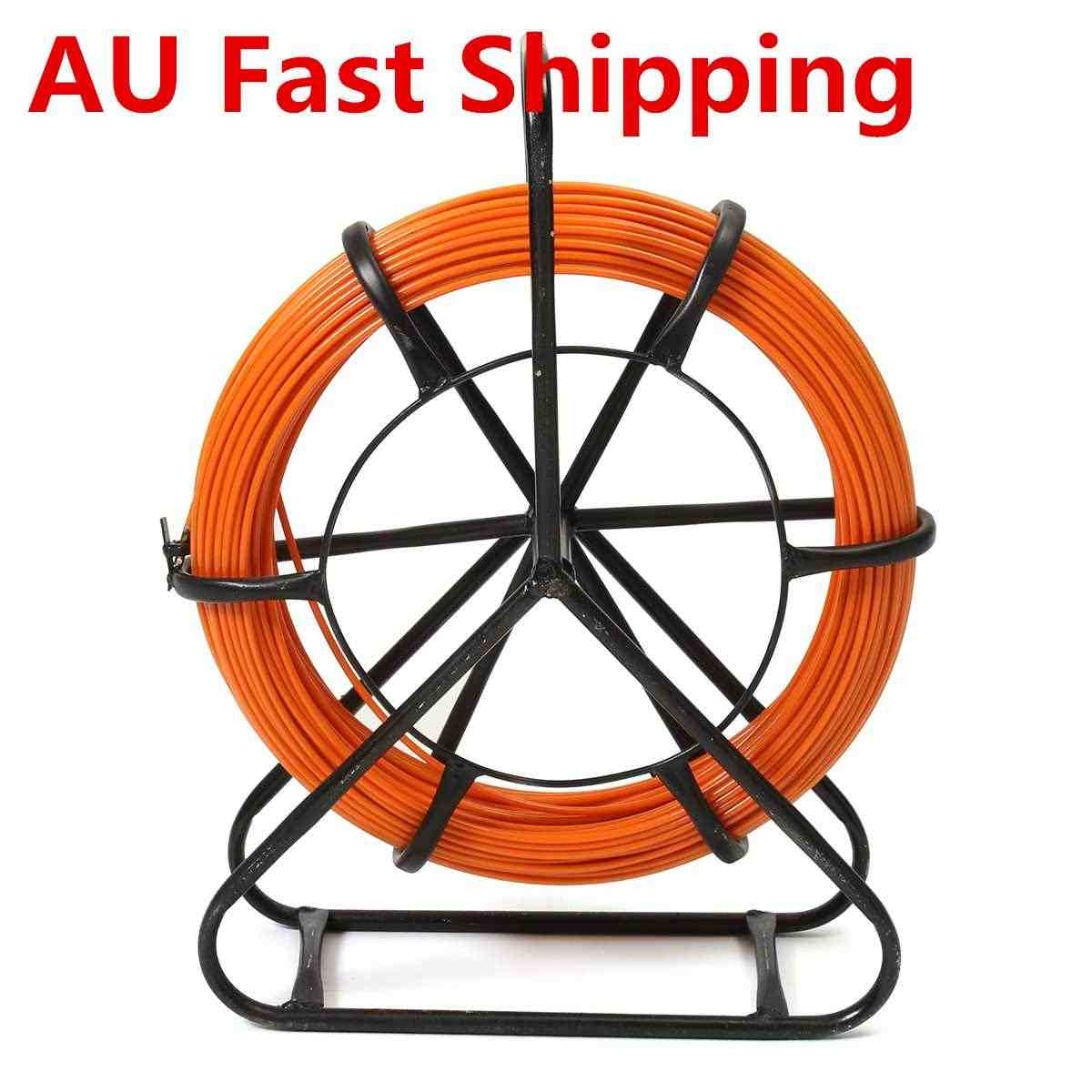 4.5mm 100M Fiberglass Wire Cable Running Rod Snake Fish Rodder Puller Flexi Lead Electric Fiberglass Wire Cable Running Rod