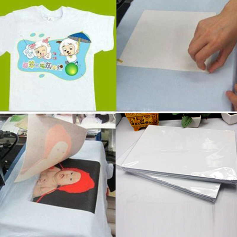 100 Sheets A4 Dye Sublimation Heat Transfer Paper Inkjet Heat For Light Color