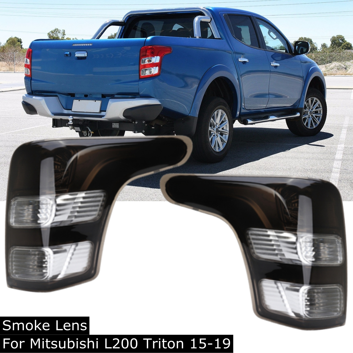 Black Car Tail Light Truck Rear Lamps Tailights Warning Lights Rear Parts Left Right Lens for Mitsubishi L200 for Triton 2015-onBlack Car Tail Light Truck Rear Lamps Tailights Warning Lights Rear Parts Left Right Lens for Mitsubishi L200 for Triton 2015-on