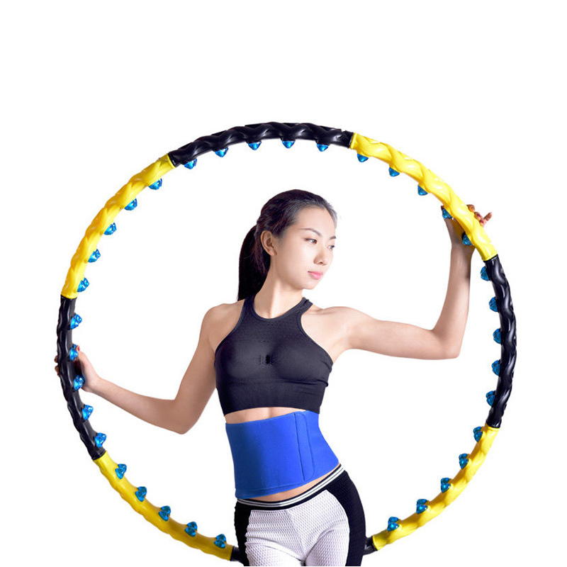Fitness Massage Exercise Workout Sport Hoop Detachable 7/8 Parts Easy To Install Double Row Magnetic Fitness Crossfit Hoop