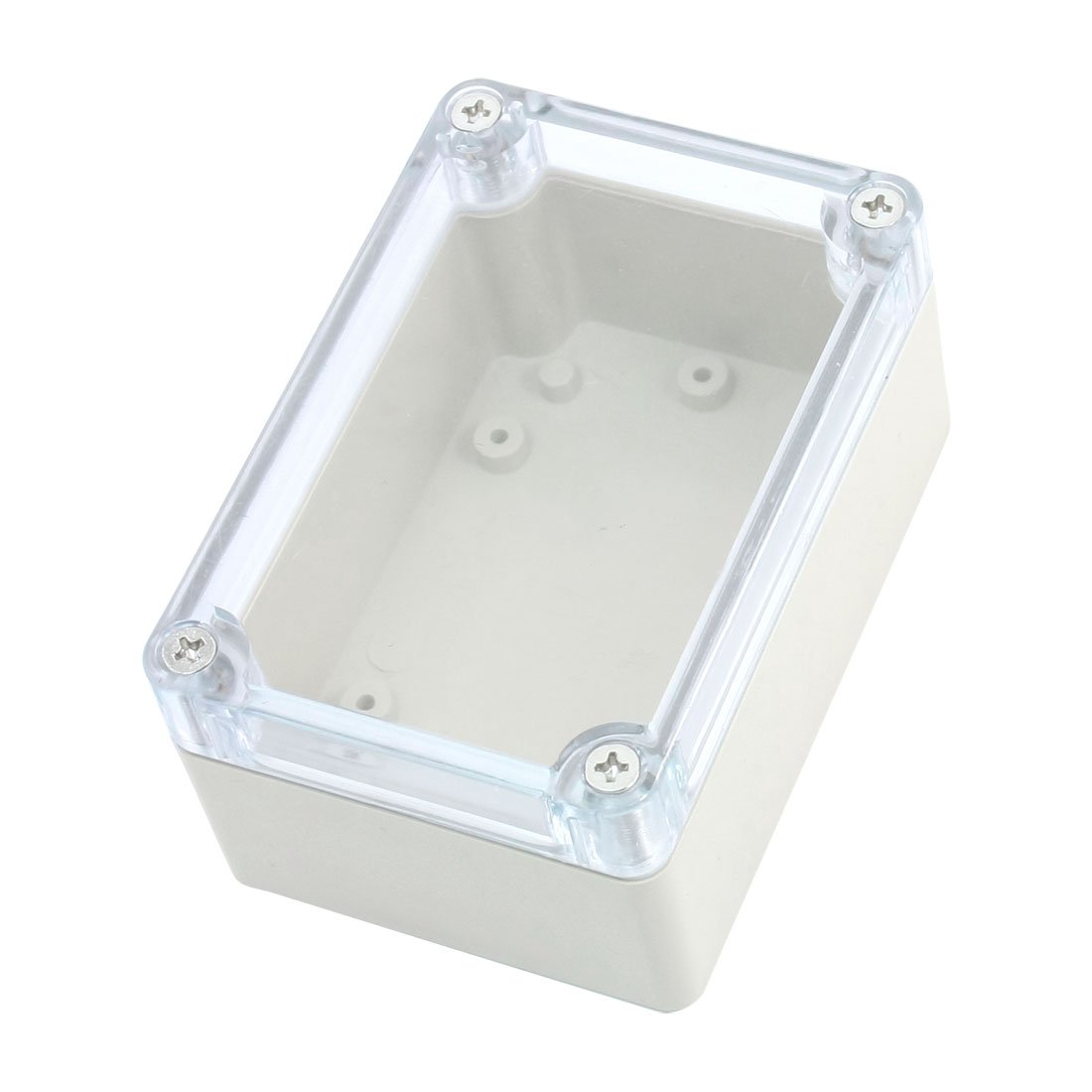 Screw Mounted Clear Cover Waterproof Sealed Junction Box 100x68x50mm