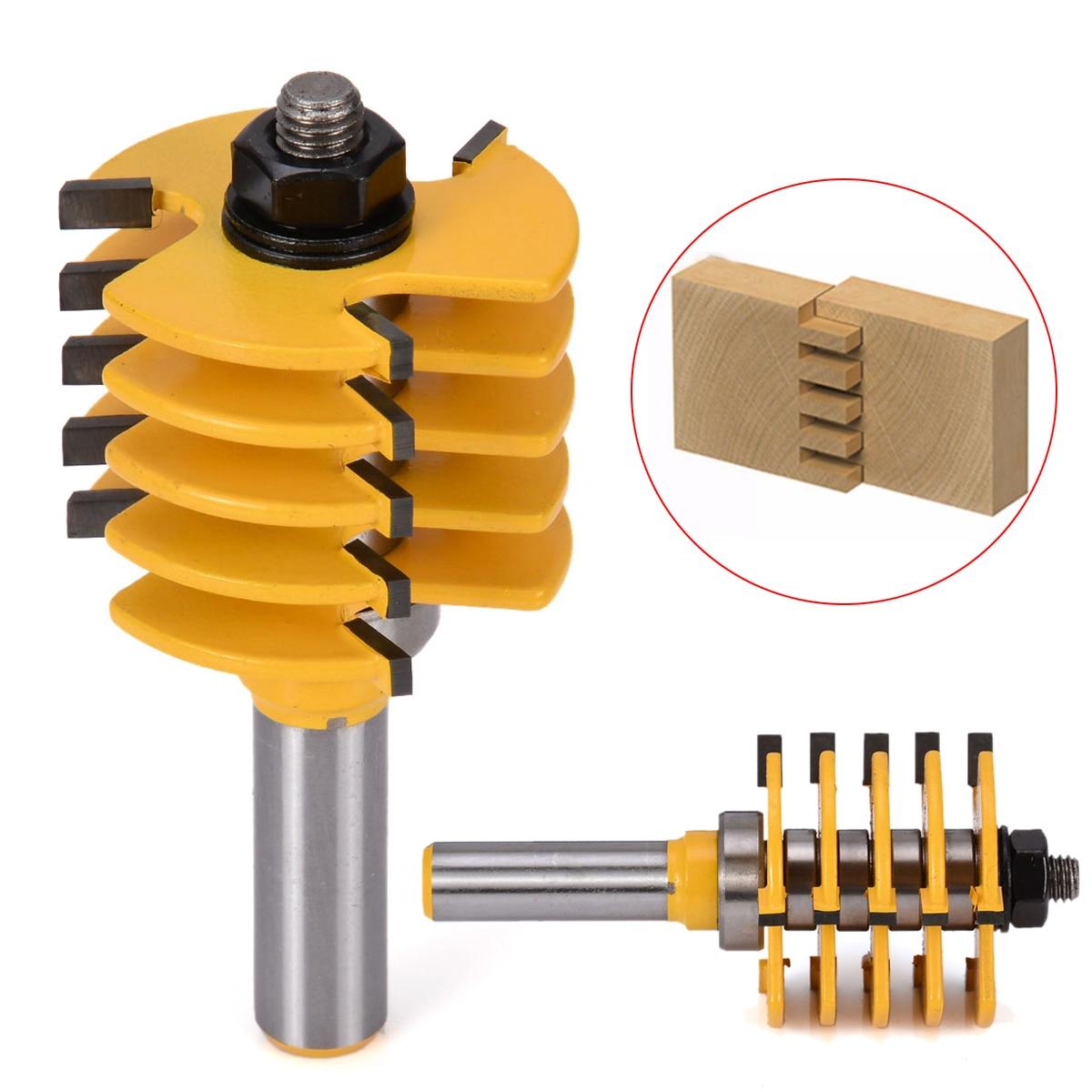 "1/2 ""shank Einstellbar Box & Holz Router Bit Finger Joint Router Bit Holz Fräser Werkzeug StraßEnpreis"