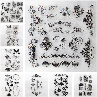 DIY Handmade Stamps Transparent Silicone Clear Stamp Sheet Rubber Cling Seal Scrapbooking Crafts Home Decor