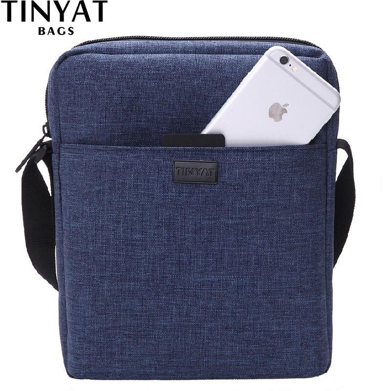 73b99c985 TINYAT hombres bolso nuevo bolso de hombro de los hombres masculinos bolsa  para Ipad bolso de Crossbody de la lona impermeable bolsa de mensajero  ocasional ...