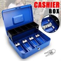 12 Blue Piggy Bank Mini Atm Money Box Digital Coins Cash Deposit Cash Box With Drawer Lock Key
