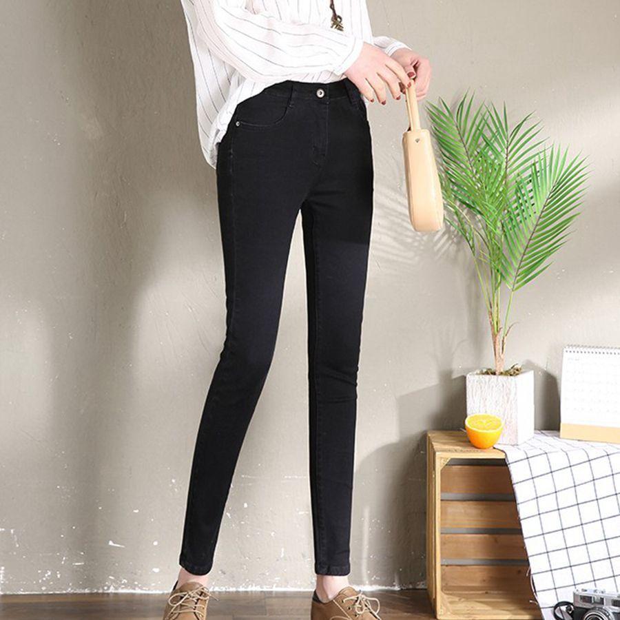 Spring Skinny Pencil Jeans Women Slim High Waist Elastic Jeans Female Blue Vintage Skinny Denim Pants Lift Hip Trousers Femme in Jeans from Women 39 s Clothing