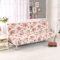 Flower Printed Universal Spandex Elastic Sofa Cover Stretch Anti dity Bench Cover No Armrest Folding Cover Sofa Bed Cover 30