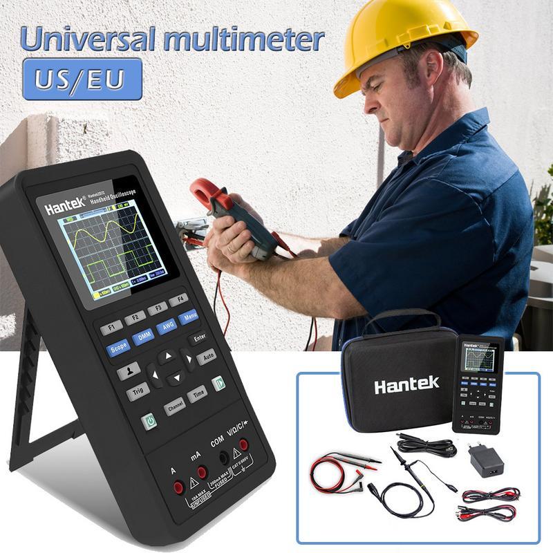 Hantek 3in1 Numérique Oscilloscope + Générateur de Signaux Multimètre Portable USB 2 Canaux 40 mhz 70 mhz LCD Affichage Test Compteur outils