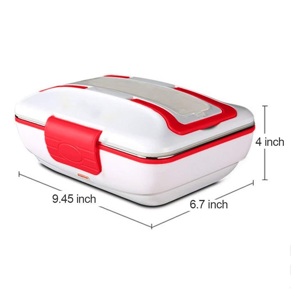 Ланч бокс портативный электрический нагреватель Ланч-бокс со съемным контейнером из нержавеющей стали подогреватель еды и автомобильное з...