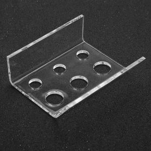 Image 5 - Soporte de 6 agujeros para tatuaje taza para tinta recipiente de pigmento soporte acrílico maquillaje permanente Microblading Pigment Cup Cap Holder