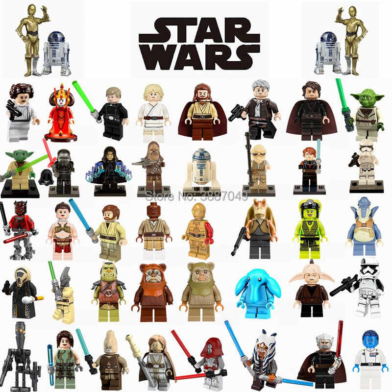 Legoings Star Wars Luke Han Solo Darth Vade Leia Amidala Palpatine gravous Darth Maul Yoda модель строительные наборы игрушки для детей