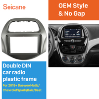 Seicane No gap 2Din Car Stereo Radio Fascia Panel For 2018+ Daewoo Matiz Chevrolet Spark Baic Beat Install Dash Bezel Trim Kit