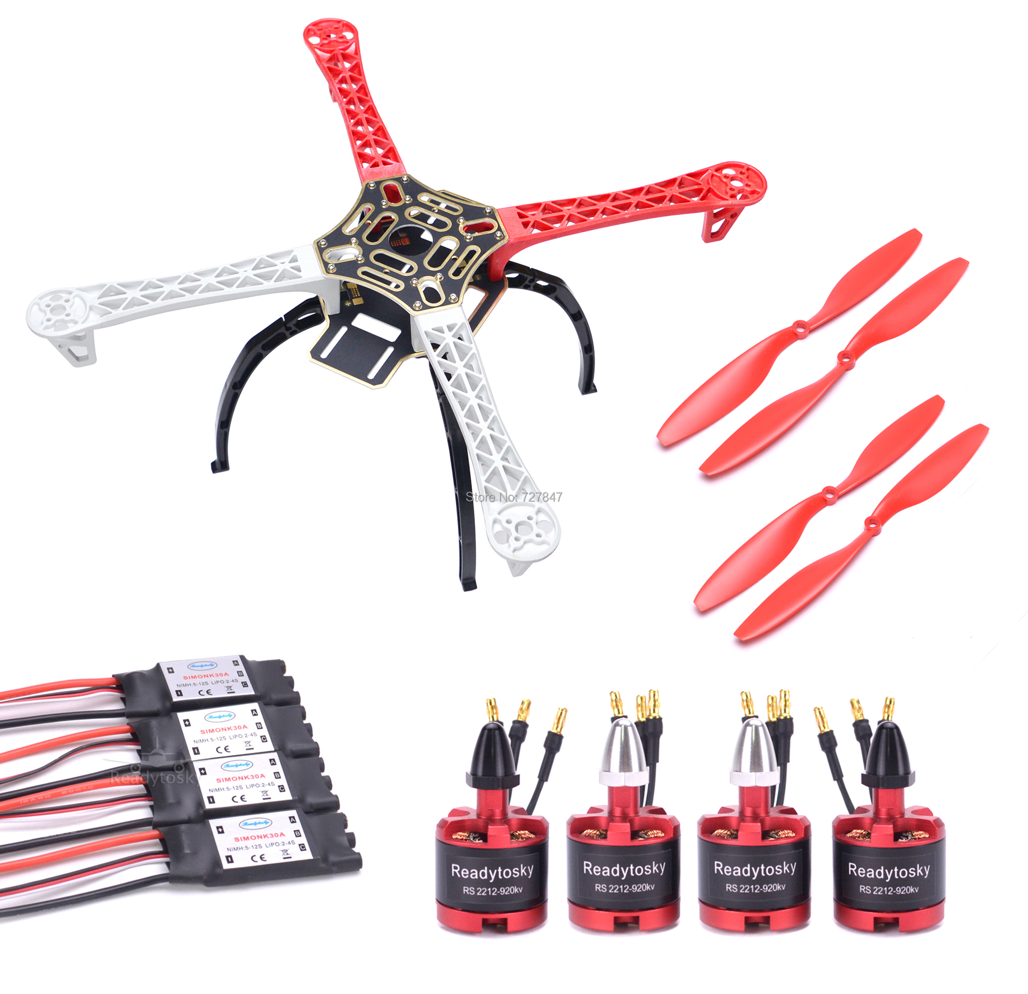 F450 450mm Quadcopter Multicopter Frame Kit 2212 920KV Brushless Motor 30A Simonk ESC 1045 propeller