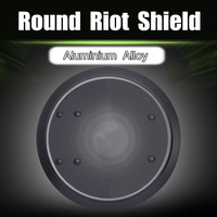 Large 53cm Aluminum Alloy DefenseShield Round Tactical Anti Riot Handheld Shield Self Defence Protection Self DefenseSupplies