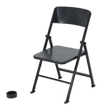 ABGZ-1/6 Scale Dollhouse Miniature Furniture Folding Chair for Dolls Action Figure Black