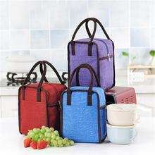636611d3ddabc7 New waterproof Oxford cloth portable insulation bag Lunch box thickening  with rice bag lunch bag insulated