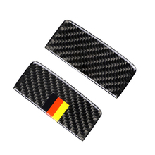 Para Mercedes Benz A CLA clase 13 18 / GLA 15 18 fibra de carbono caja de almacenamiento lateral del pasajero del coche