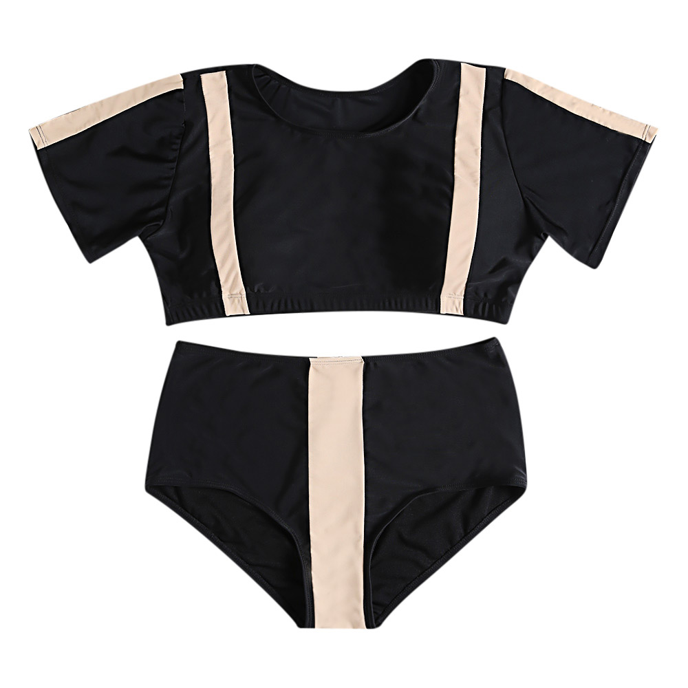 Bikini Sports Swimwear Women Bathing Suit Brazilian Thong Bikini 2019 Bathers Female T-Shirt Large Two-Piece Swimsuit Push Up