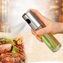 100 мл 1 шт. нержавеющая сталь стекло оливковый насос спрей бутылка масло соус уксус бутылка диспенсер для приготовления салата кухня выпечки