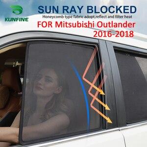Магнитные боковые окна автомобиля 4 шт./компл., Затемненные сетчатые затемненные шторы для Mitsubishi Outlander 2016-2019, черные автомобильные окна Curtian