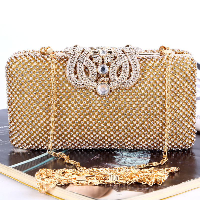 Crossbody Clutch Crown rhinestones evening bags Luxurious Evening Dress Rhinestone handbags Woman bag With Chain Shoulder Purse.