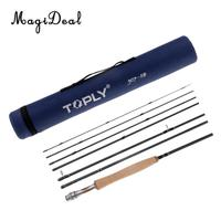 Traveler Fly Fishing Rod 7 Pieces 46T Carbon Rod 9ft Cork Handle Grip Fly Rod with Tube Case